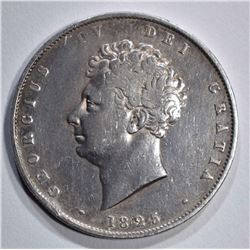 1825 SILVER 1/2 CROWN GREAT BRITAIN