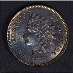 1874 INDIAN HEAD CENT  CH.BU
