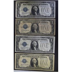 "4-1928 SILVER CERTIFICATES  ""FUNNY BACK NOTES"""