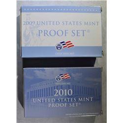 2009 & 10 U.S. PROOF SETS IN ORIG PACKAGING