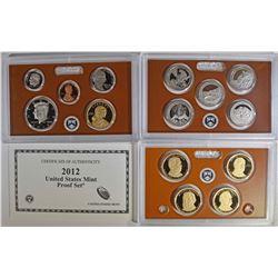 2012 U.S. PROOF SET IN ORIG BOX/COA BETTER DATE