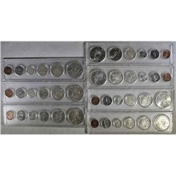 CANADIAN SETS WITH SILVER IN PLASTIC HOLDERS