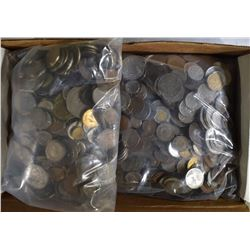 OVER 19 POUNDS OF WELL MIXED FOREIGN COINS