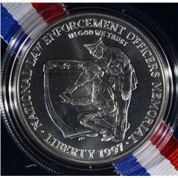 1997 LAW ENFORCEMENT UNC SILVER $1
