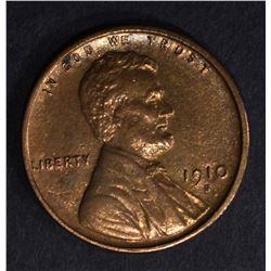 1910-S LINCOLN CENT  AU/UNC
