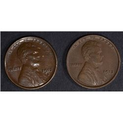 LINCOLN CENTS:  1913 XF, 1913-S AU