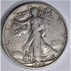 1927-S WALKING LIBERTY HALF DOLLAR  XF/AU