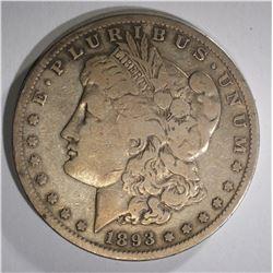 1893-S MORGAN DOLLAR VF - KEY DATE