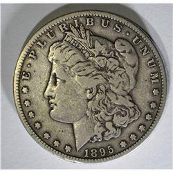 1895-S MORGAN DOLLAR VF FEW SCRATCHES