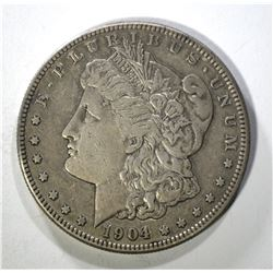 1904-S MORGAN DOLLAR XF/AU