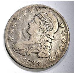1833 BUST HALF DOLLAR O-110 A, VF