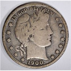 1900-S BARBER HALF DOLLAR, FINE