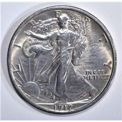1917 WALKING LIBERTY HALF DOLLAR  BU