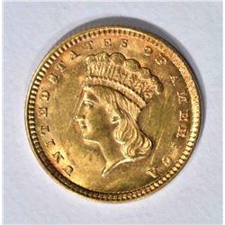 1857 GOLD $1 DOLLAR  CH BU