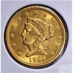 1904 $2 1/2 GOLD LIBERTY  CH BU