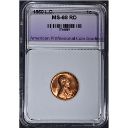 1960 LARGE DATE LINCOLN CENT APCG RED