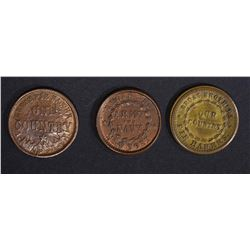 3-BROAS BROTHER STORE CARD TOKENS, NEW YORK