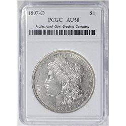 1897-O MORGAN DOLLAR PCGC GRADED