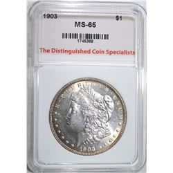 1903 MORGAN DOLLAR, TDCS GEM BU