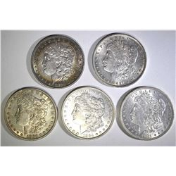 5 AU MORGAN DOLLARS