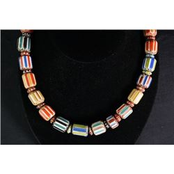 19th Century Coloured Glaze Necklace.