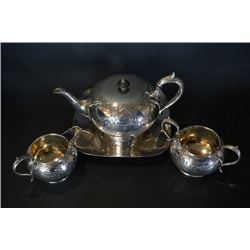 JR & S SHEF FIELD Silver Plated Tea Set.