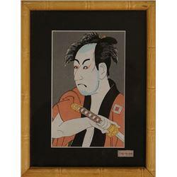 Japanese Style-Ukiyo-e Painting on Wood.