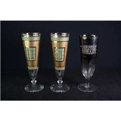 A Group of Three Wine Glasses.