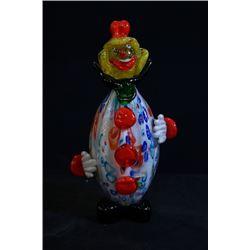 A Coloured Glaze Clown Decoration.