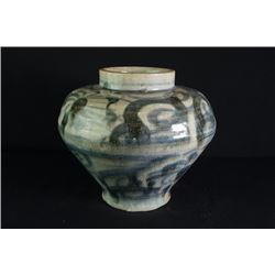 A Qing Dynasty Blue-and-White Jar.