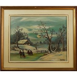 An Oil Painting with Frame by R?? O'Hara.