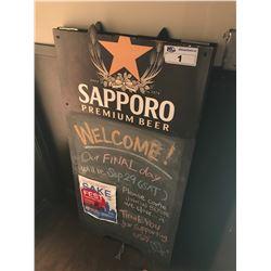 SAPPORO SANDWICH CHALK BOARD