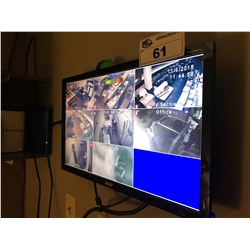 SECURITY CAMERA SYSTEM WITH MONITOR & ASSORTED CAMERAS