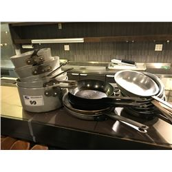 ASSORTED COOKING POTS & PANS