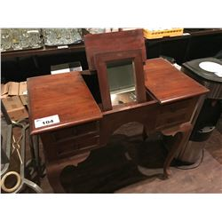 DARK WOOD VANITY TABLE
