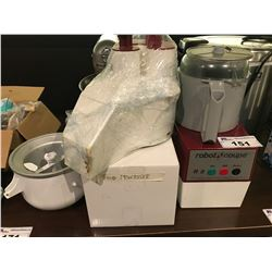 ROBOT COUPE INDUSTRIAL FOOD PROCESSOR WITH ATTACHMENTS