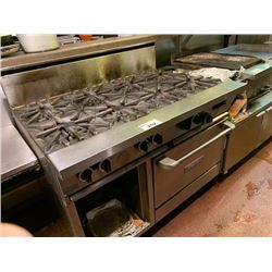 GARLAND GAS 8 BURNER STOVE WITH OVEN