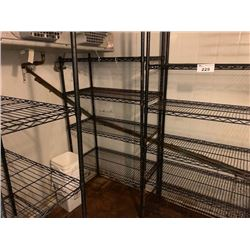 4 SECTIONS OF COOLER SHELVING