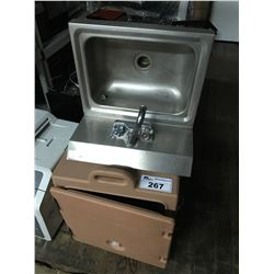 CAMBRO FOOD CABINET WITH SINK