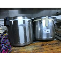 2 RICE COOKERS