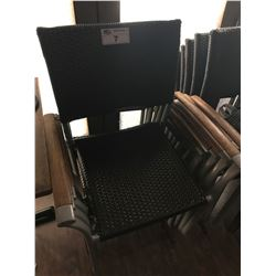BROWN WICKER PATIO CHAIR