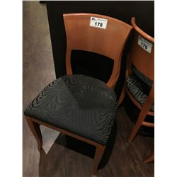 WOOD FRAMED FABRIC DINING CHAIR