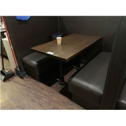 LARGE BOOTH TABLE WITH BOOTH SEATING