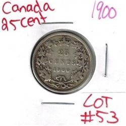 1900 Canadian Silver 25 Cent