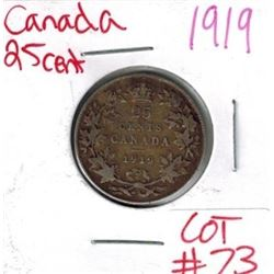 1919 Canadian Silver 25 Cent