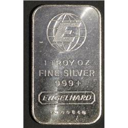 1 oz .999 Fine Silver Bar ENGELHARD