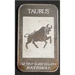 1 oz .999 Fine Silver Bar TAURUS National Refining