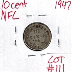 1947 Newfoundland Silver 10 Cent