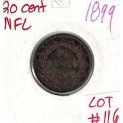 1899 Newfoundland Silver 20 Cent