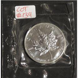 1988 1 oz Canada .9999 $5 Fine Silver Maple RCM SEALED